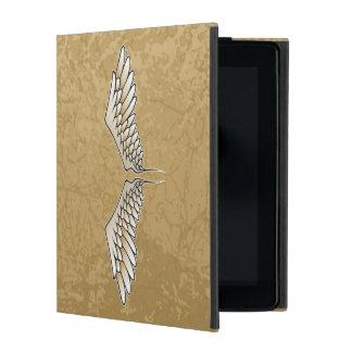 Beige wings iPad case
