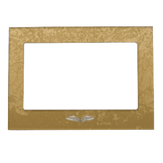 Beige wings magnetic picture frame