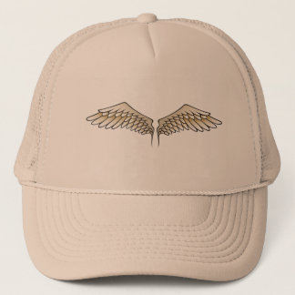Beige wings trucker hat