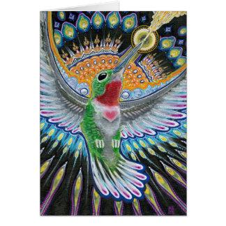 "Beija Flor (""Flower Kisser"") Hummingbird Painting Greeting Card"