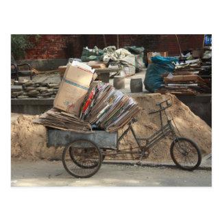 Beijing China Bicycle Postcard