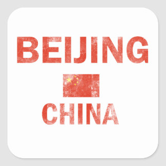 Beijing China Designs Square Sticker