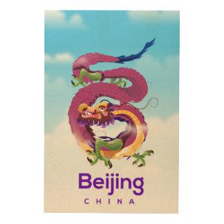 Beijing China Dragon travel poster