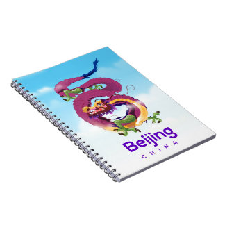 Beijing China Dragon travel poster Notebook