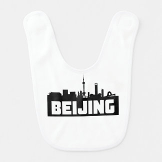 Beijing China Skyline Bib