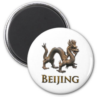 BEIJING Dragon 6 Cm Round Magnet