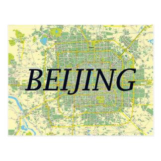 Beijing map card postcard