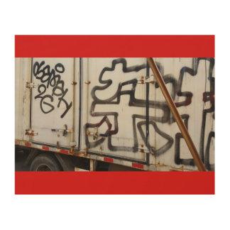 Beijing Truck Grafitti Wood Print