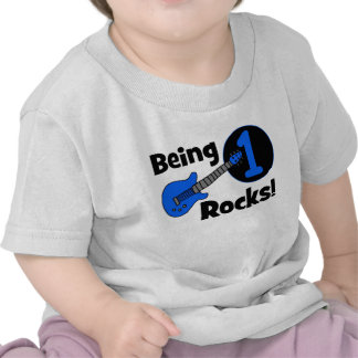 Being 1 Rocks! Personalised Baby's 1st Birthday Shirts