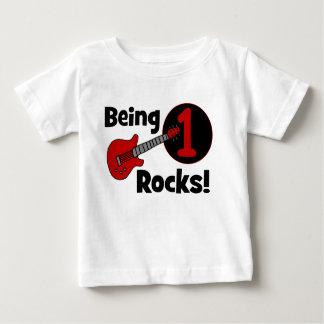 Being 1 Rocks! Personalised Baby's 1st Birthday Shirt