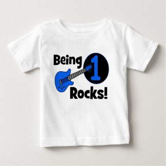 Being 1 Rocks! Personalized Baby's 1st Birthday Tee Shirt