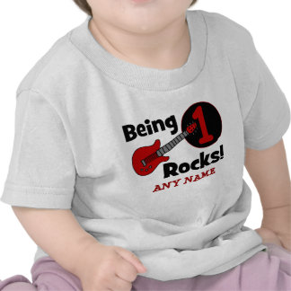 Being 1 Rocks! Personalized Baby's 1st Birthday Tees