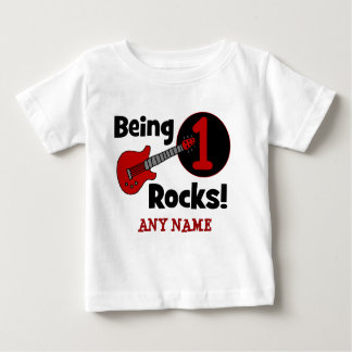 Being 1 Rocks! Personalized Baby's 1st Birthday T-shirt