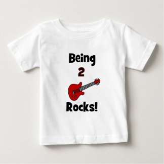 Being 2 Rocks!  with Guitar Baby T-Shirt