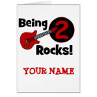 Being 2 Rocks! with Guitar Card