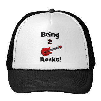Being 2 Rocks!  with Guitar Trucker Hats