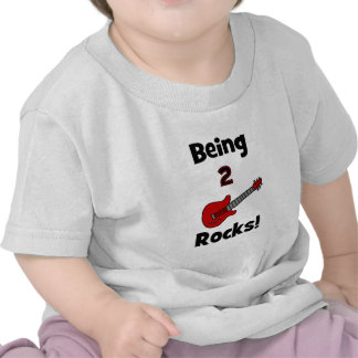 Being 2 Rocks with Guitar Shirt