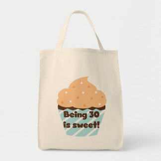 Being 30 is Sweet T-shirts and Gifts Grocery Tote Bag