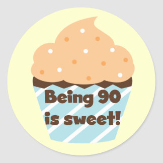 Being 90 is Sweet Birthday T-shirts and Gifts Classic Round Sticker