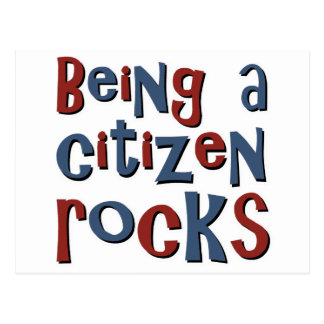 Being a Citizen Rocks Postcard