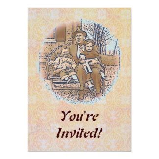 """""""Being a Dad"""" Father's Day 5x7 Paper Invitation Card"""
