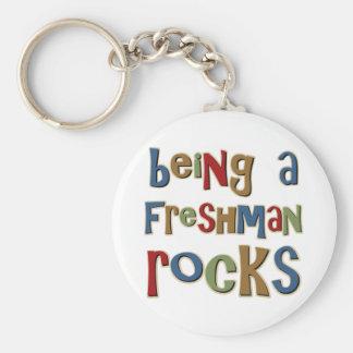 Being A Freshman Rocks Basic Round Button Key Ring