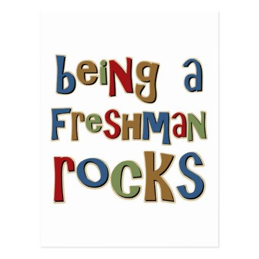Being A Freshman Rocks Post Card