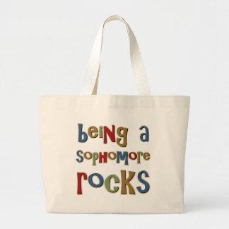 Being A Sophomore Rocks Jumbo Tote Bag