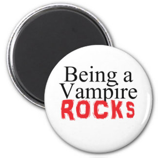 Being a Vampire Rules 6 Cm Round Magnet