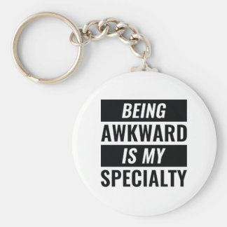 Being Awkward Key Ring