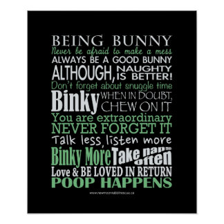 """Being Bunny"" Poster/Prints Poster"