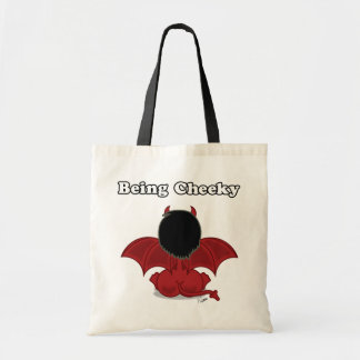 Being Cheeky Devil Tote Canvas Bags