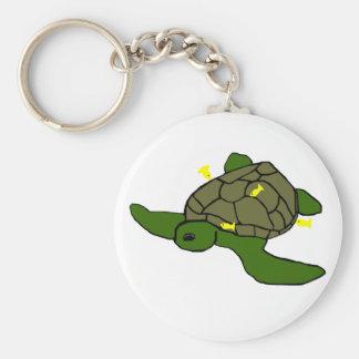 Being cleaned honu sea turtle key chain