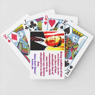 Being Confident Of Our Own Future - Jimmy Carter.j Bicycle Playing Cards