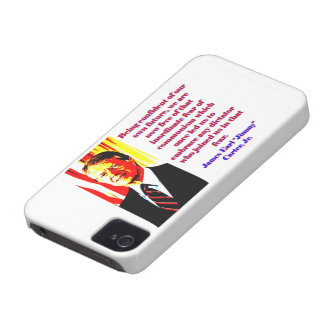 Being Confident Of Our Own Future - Jimmy Carter.j iPhone 4 Case-Mate Cases