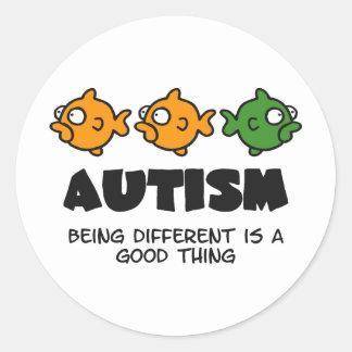 Being Different - autism design Classic Round Sticker