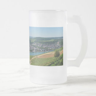 Being gene on the Rhine Frosted Glass Beer Mug