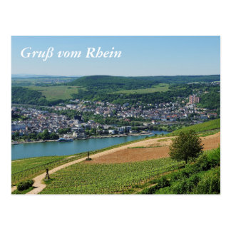 Being gene on the Rhine Postcard