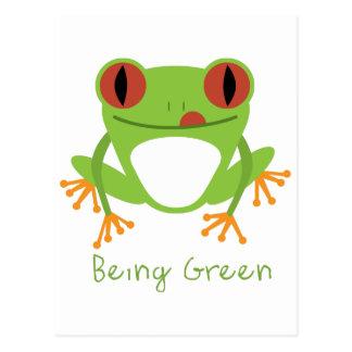 Being Green Postcard