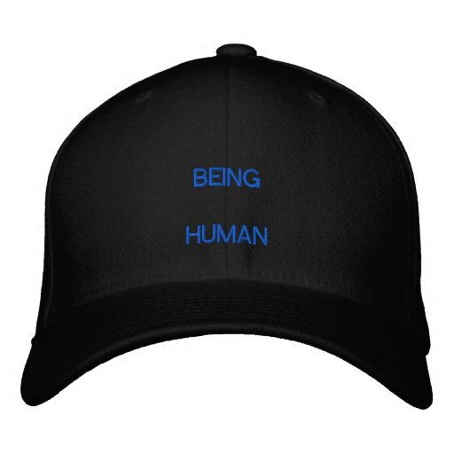being human embroidered hats
