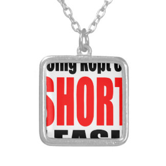being kept short leash marriage reality expectatio silver plated necklace
