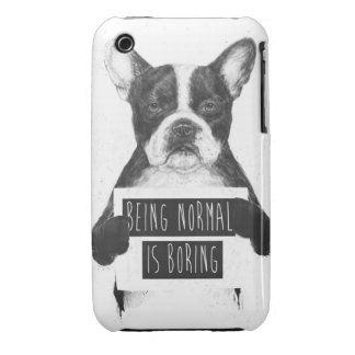 Being normal is boring iPhone 3 Case-Mate cases