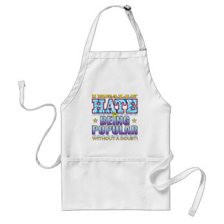 Being Popular Hate Face Standard Apron