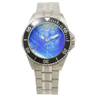 Being refreshing, the blue sky which is clear* wristwatch