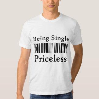 Being single priceless bar code t-shirt