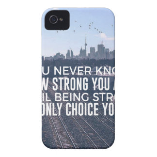 Being Strong Is The Only Choice iPhone 4 Case-Mate Case