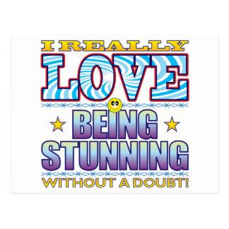 Being Stunning Love Face Postcard