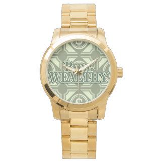 Being Wealthy!  Custom Stainless Steel Bracelet Watch