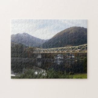 Beinn A' Bheithir & Ballachulish Bridge, Scotland Jigsaw Puzzle