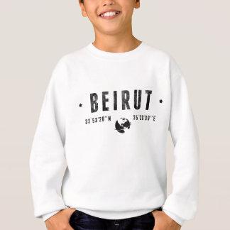 Beirut geographic coordinates sweatshirt